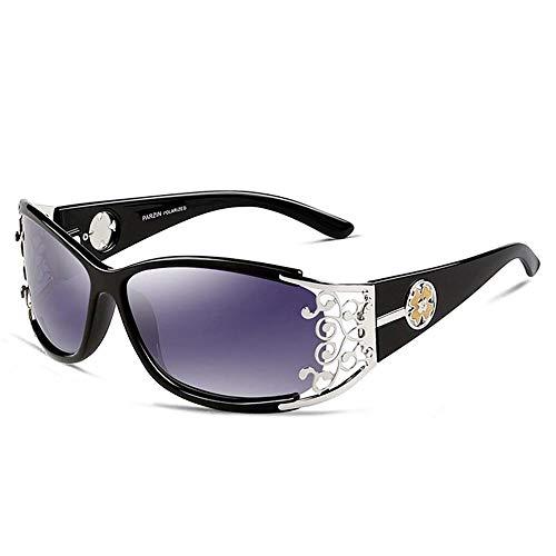 ZHOUYF Sonnenbrille Fahrerbrille Retro Sonnenbrille Damen Polarisierte Damen Sonnenbrille Damen Durchbrochene Spitze Weibliche Brille Fahren, B