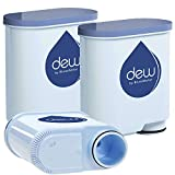 BluesWater Filters TM | Filtre à eau froide | Lot de 3 | Filtre de rechange pour machines à café Saeco Aqua Clean et Philips.