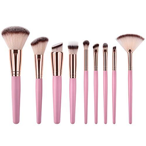 Dosige 9 pcs Set Multifonctionnel Pinceaux Professionnel Pinceaux de Maquillage Yeux Brosse de Brush Cosmétique Professionnel - Tube en Aluminium