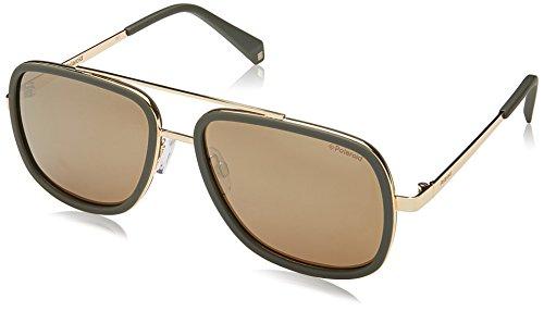 Polaroid Mirrored Square Women's Sunglasses - (PLD 6033/S 1ED 57LM|57|Gold Color) image