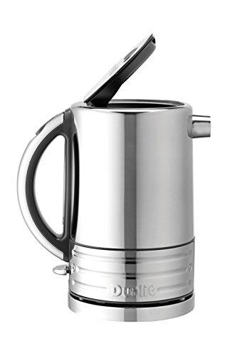 41D2qbH8yAL - Dualit Architect Kettle | 1.5 Litre 2.3 KW Stainless Steel Kettle With Grey Trim | Rapid Boil and Patented Pure Pour Non…