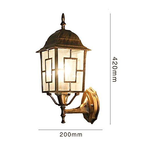 Geschmiedet Schwarz Zwei Licht (MOMO Bohemian Wandleuchte Außenlaterne Kreative Villa Lampe Pastoralen Außentür Hof Wasserdichte Wandleuchte,AAA)