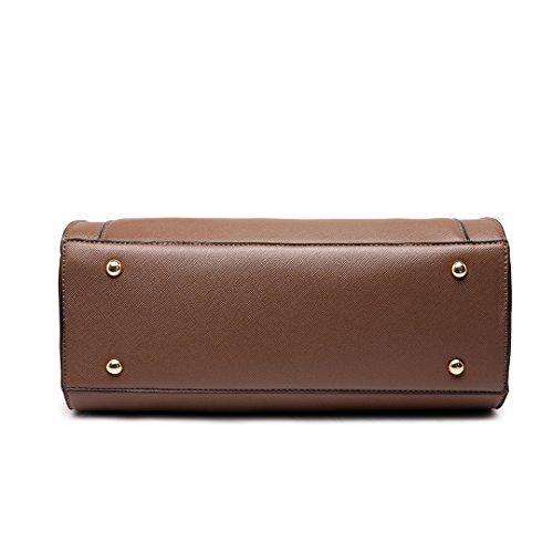 Miss Lulu , Damen Tote-Tasche beige 1650 Beige 1650 Brown
