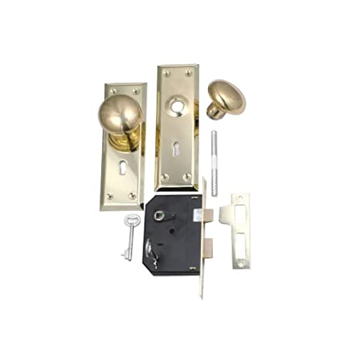BELWITH PRODUCTS LLC - Brass Cabinet Knob/ Mortise Lock