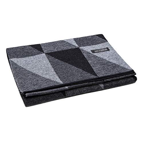 Yra Herren Schal-Winter-Premium-Pure Wool Schal Warm Lätzchen Für Gentleman Business-Plaid-Schal-Halstuch Mit Geschenk-Box,Grey-31 * 180cm Plaid Wool Cap