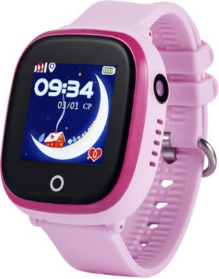 JBC GPS-Telefon Uhr-Modell 2019-Großer Pirat-Wasserdicht mit Kamera und WiFi OHNE Abhörfunktion,SOS Notruf+Telefonfunktion,Live GPS+WiFi+LBS Positionierung,weltweit, Anleitung+App+Support(pink)