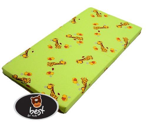 Best For Kids Babymatratze 60x120x6 cm Bezug 100% kuschelweiche Baumwolle (Grün)