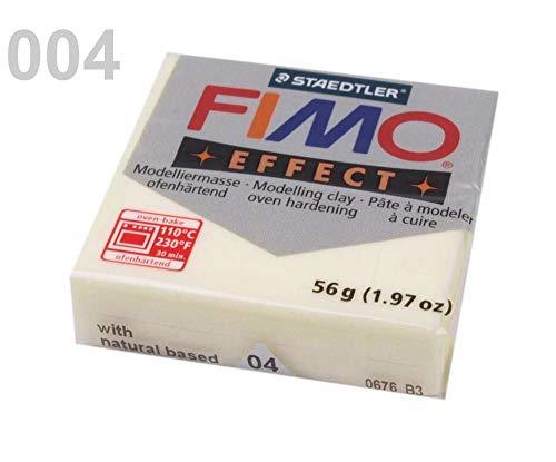 1pc 04 Marfil Fluorescente FIMO Polímero Arcilla