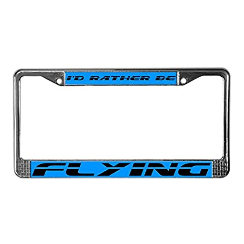 CafePress Flying License Plate Frame License Frame - Standard Multi-color
