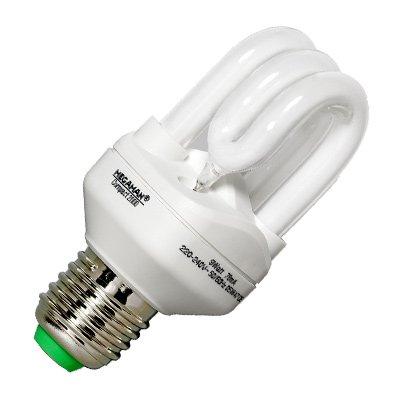 Megaman MEGAMAN ESL Candlelight 2000-9W-E14/827 Energiesparlampe E14, E14 9 W Warm-Weiß Röhrenform 10 000 (Nacht Bade)