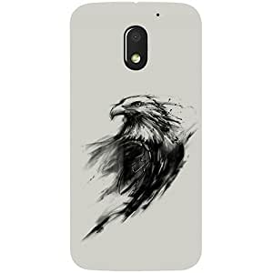 Casotec Eagle Paint Design 3D Printed Hard Back Case Cover for Motorola Moto E3 Power