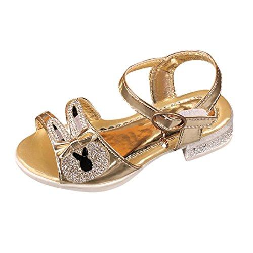 Big promotion!sandali punta aperta bambina-on sale cristallo sandali estivi ragazze eleganti scarpe fiocco trekking aperte partito nozze spiaggia bambine principessa hot sale !! (oro, eu:31)
