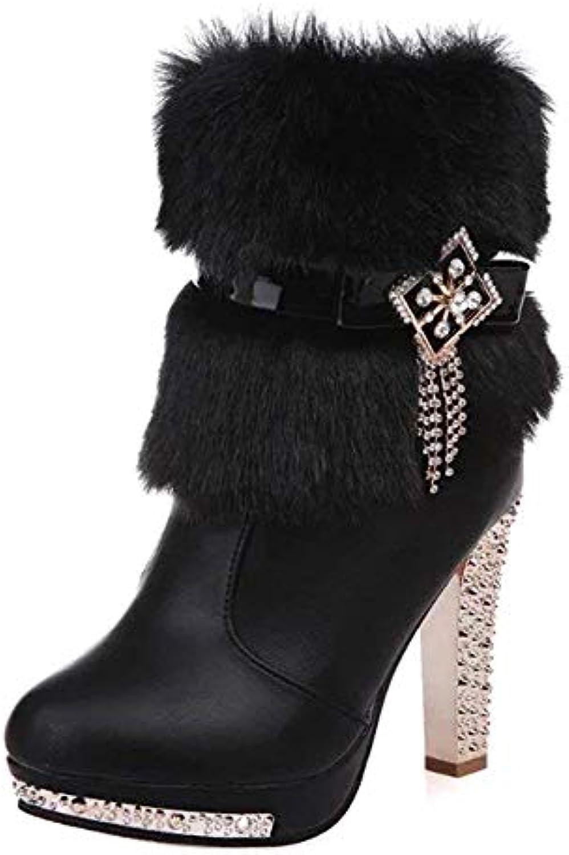 SED Scarpe da donna 'S stivali Zipper Heel Table impermeabile da donna' S scarpe,35 Eu,Nero | Prezzo basso  | Scolaro/Signora Scarpa