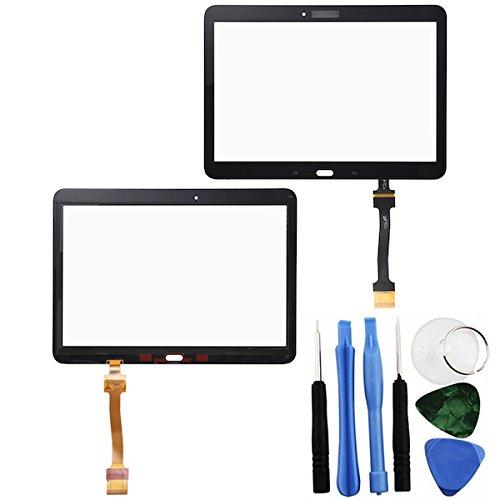 BisLinks® Touch Screen Digitizer Schwarz Für Samsung Galaxy Tab 4 10.1 Klebstoff + Tools