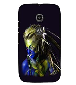 printtech Cute Girl Back Case Cover for Motorola Moto E2::Motorola Moto E (2nd Gen)