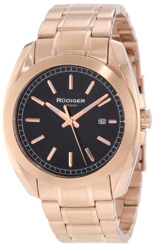 Rudiger Men's R1001-09-007 Dresden Rose/Black Date Watch