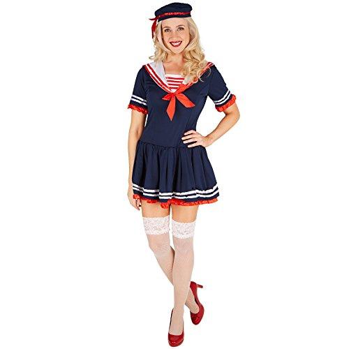 Kostüm Sexy Mädchen Seemann - TecTake dressforfun Frauenkostüm Marine-Lady | Sexy Marinelook inkl. Hut (M | Nr. 301425)