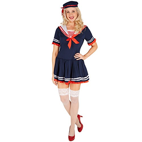 Frauenkostüm Marine-Lady | Sexy Marinelook inkl. Hut (M | Nr. 301425) ()
