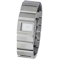 Levi's Ladies White Dial Stainless Steel Case and Bracelet Watch