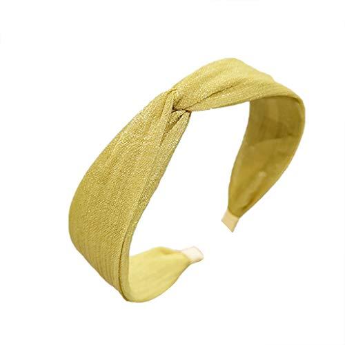 TOPGKD beliebt Mode samt bogen knoten haarband frauen haarkopf hoop süße mädchen haarbandIns umsatzstark(Gelb)