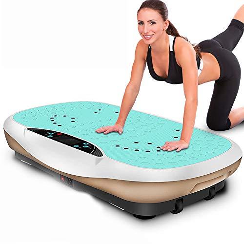 SXTYRL vibrationsplatte 150 kg belastbar, Professionelles Fitnessgerät Schlanke Crazy Fit Vibrationsplatte mit geräuschlosem Antriebsmotor - Für Gewichtsverlust und Körperstraffung, Green