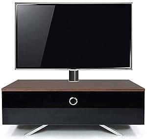 MDA Designs Cubic hybride en noyer et complet Meuble TV type Cantilever adaptable Noir