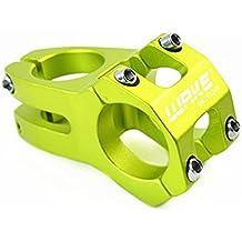 Wake 31,8× 45mm para bicicleta de montaña para bicicleta de montaña del manillar para BMX MTB bicicleta de carretera (aleación de aluminio, verde)
