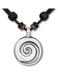 HANA LIMA ® Lederkette Koru Surferkette Halskette Herrenkette Damenkette Metallanhänger