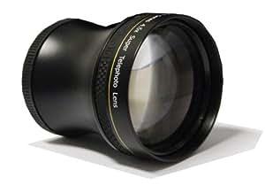 Super téléobjectif 4.5x 52/58 mm de Polaroid Studio Series, inclut une housse d'objectif et les couvercles d'objectif