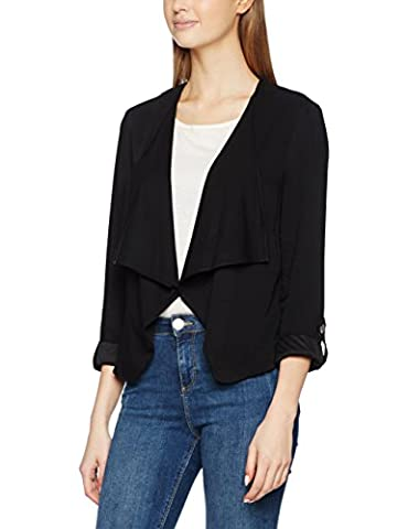 New Look Waterfall - Blouson - Manches Longues - Femme - noir - 34 (Taille fabricant: 6)