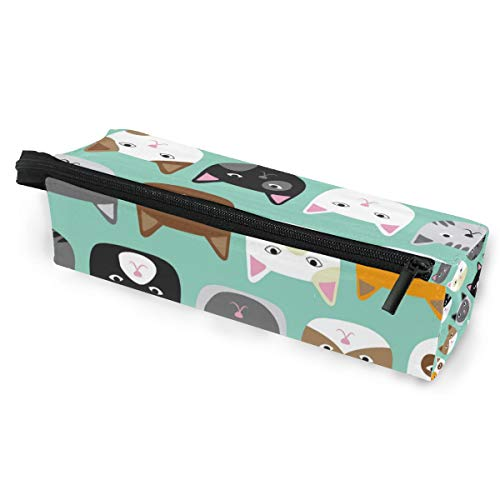 Tier süße Katze nahtlose Muster Brillen Fall Softbox Reißverschluss Sonnenbrille Inhaber Federbeutel Schutzhülle Bleistift Kosmetiktaschen Lagerung