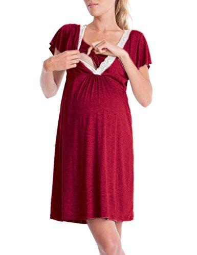 umstandsmode tshirt sommer Kurzarm Schwangerschafts Kleid (Phase Linie)