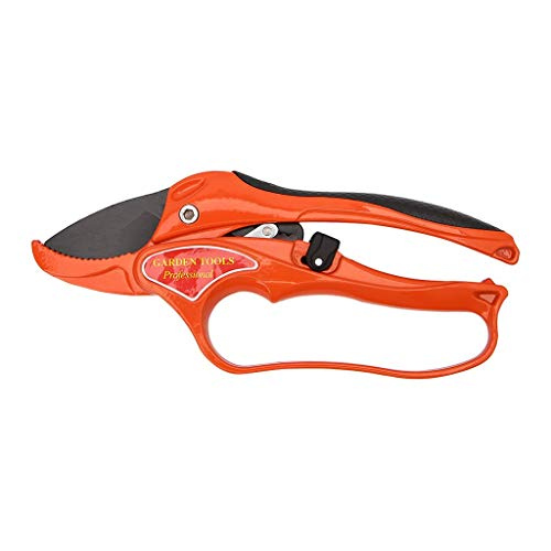SimpleLife Garten Garten Werkzeug Gartenschere Schere Obst Ratsche Gartenschere Cutting Branch Cutter 1 Stück Orange (Branch Cutter)