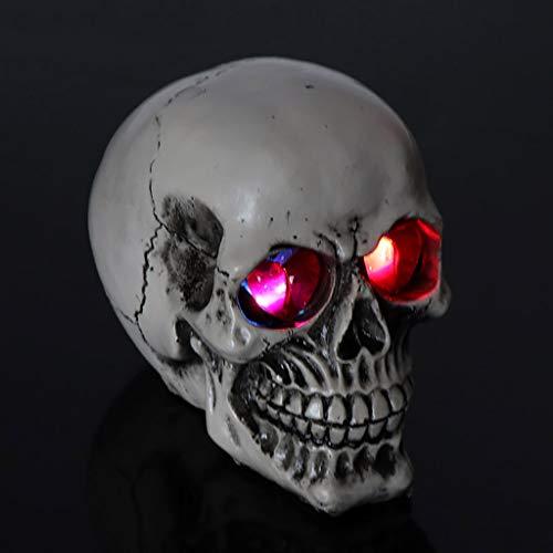 Sisyria Menschlicher Schädel Modell, Halloween Menschlicher Knochen Dekoration Lebensgroße Replik Harz Skelett Für Halloween-Partys Ostern Spukhäuser,E (Paare Kostüm Beängstigend)