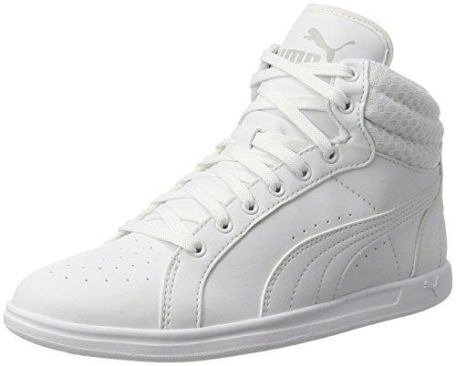Puma Damen Ikaz Mid v2 Sneaker, Weiß White, 39 EU (Basketball Mid Sneaker)
