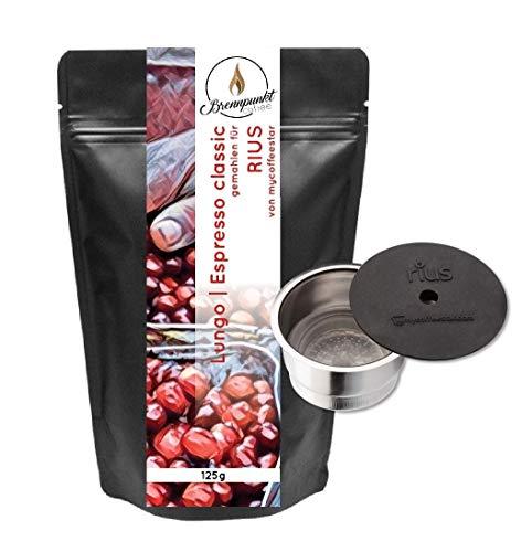 mycoffeestar RIUS: Wiederbefüllbare Kaffeekapsel für TCHIBO CAFISSIMO® und CAFFITALY® Maschinen mit 125g Premiumkaffee