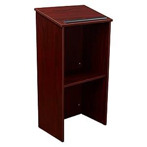 Oklahoma Sound 222-MY Lectern für den ganzen Boden, 58,4 x 116,8 x 40,6 cm, Mahagoni