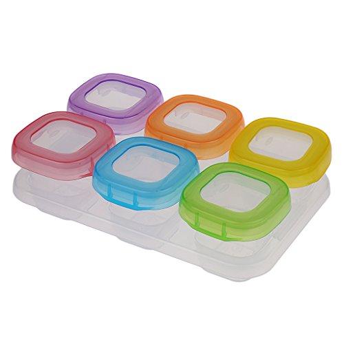 Segolike Storage Box Kitchen Food Storage Preservation Children School Box Lunch Box - Clear, 6 Pieces