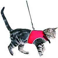 Trixie Parure pour Chat Harnais et Laisse Extensible coloris assortis