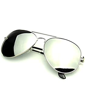 Emblem Eyewear - Aviador Gafas De Sol Vintage Espejo Lente Nuevo Hombres Mujeres Piloto Retro Marco De Moda