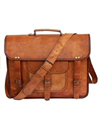 Tuzech Large Bold And Stylish Hunter Leather Handcrafted Messenger Office Regular Bag Fits Laptop