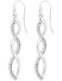 1c3f56826 Simply Silver Women's Sterling Silver 925 White Cubic Zirconia Infinity  Drop Earring