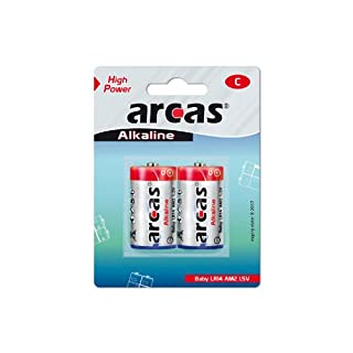 Arcas 11700214 LR14 C Baby 1.5 V Battery - Multicolour (Pack of 2)
