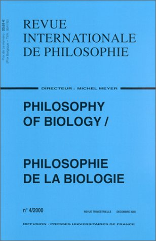 Revue internationale de philosophie, numéro 214 : Philosophy Of Biology - Philosophie de la biologie