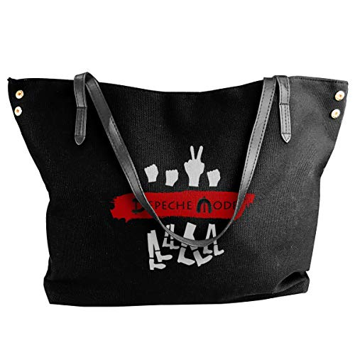 Jiaojiaozhe Depeche Mode Women's Classic Shoulder Portable Big Tote Handbag Work Canvas Bag