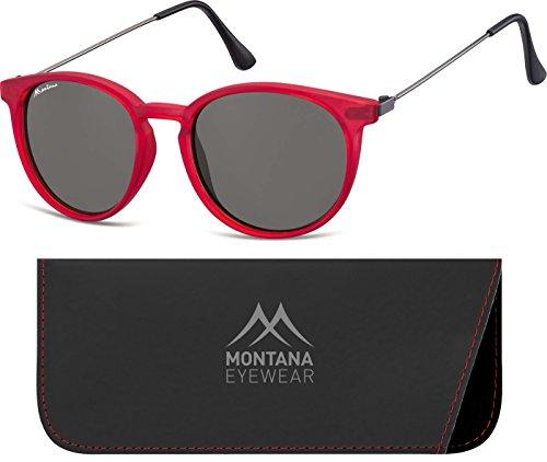 Montana S33, Gafas de Sol Unisex Adulto, Multicolor (Red + Smoked Lenses), Talla única
