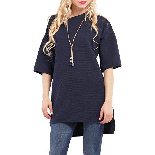 La Modeuse - Top asymétrique femme Bleu Marine
