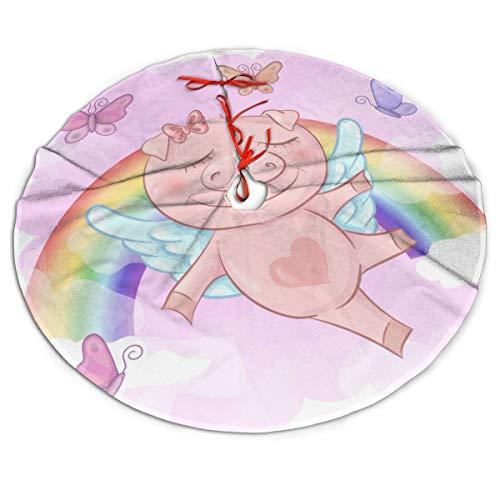 Falda para árbol de Navidad con diseño de Cerdo de Dibujos ...