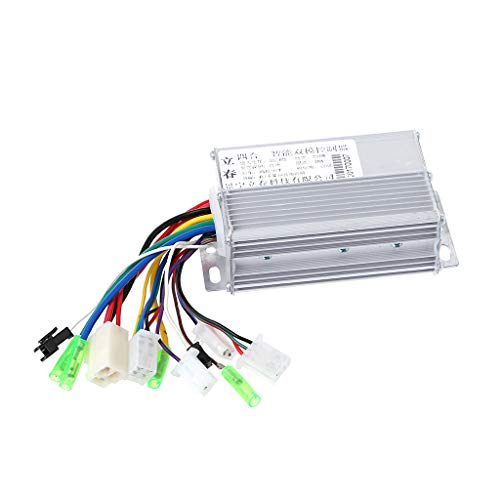 JOYKK 36V / 48V 350W Electric Motor E-Bike Scooter Brushless DC Motor Controller - Argento