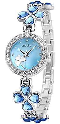 Addic Analogue Blue & Silver Dial Women's & Girl's Watch -Addicww504